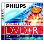 Philips DVD+R85 Dual-Layer 8x írható DVD lemez