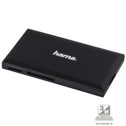 """Hama 181018 """"Slim"""" USB 3.0 superspeed fekete multi kártyaolvasó"""