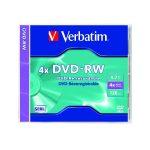 VERBATIM DVD-RW 4,7GB 4X  normál tokos DVD lemez