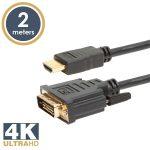 Delight 2m 4K DVI-D - HDMI kábel