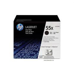 HP CE255XD (55X) fekete duo-pack nagykapacítású toner