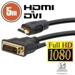 Delight 5m HDMl - DVI-D kábel