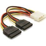 Delock 2 db SATA HDD – 4 tűs apa (Molex) hálózati kábel